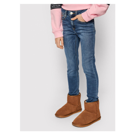 Calvin Klein Jeans Jeansy Athletic Fast IG0IG00551 Granatowy Skinny Fit