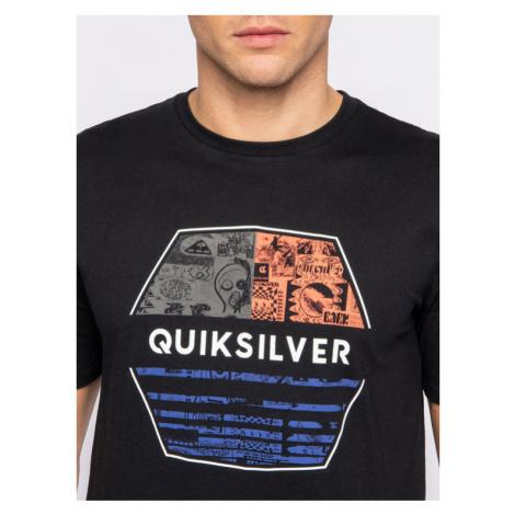 Quiksilver T-Shirt Drift Away EQYZT05765 Czarny Regular Fit