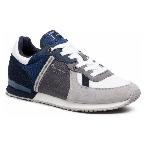 Sneakersy PEPE JEANS - Tinker Zero 21 PMS30725 Light Grey 905