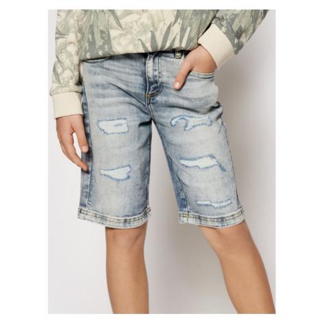 Guess Szorty jeansowe L1RD02 D46T0 Granatowy Regular Fit