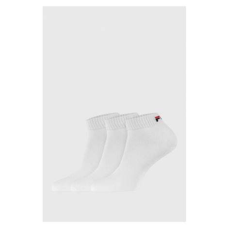 Trójpak białych krótkich skarpet FILA