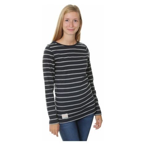 koszulka Brakeburn Yarn Dyed Stripe LS - Navy/Gray