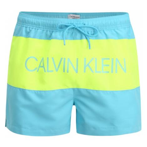 Calvin Klein Swimwear Szorty kąpielowe 'SHORT DRAWSTRING' niebieski