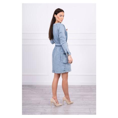 Rozciągliwa dżinsowa sukienka z zapięciem na guziki S/M
