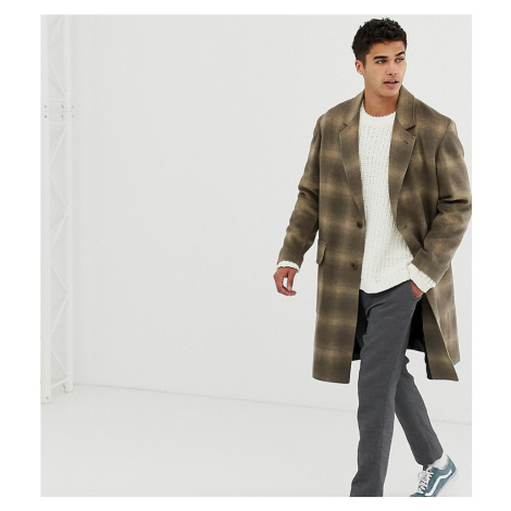Noak wool overcoat in camel check