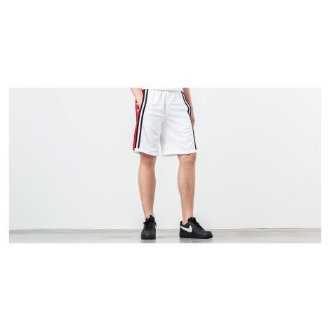 Jordan Hybrid Basketball Short White/ Gym Red/ Black