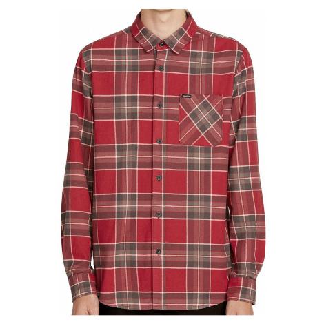 koszula Volcom Caden Plaid LS - Burgundy