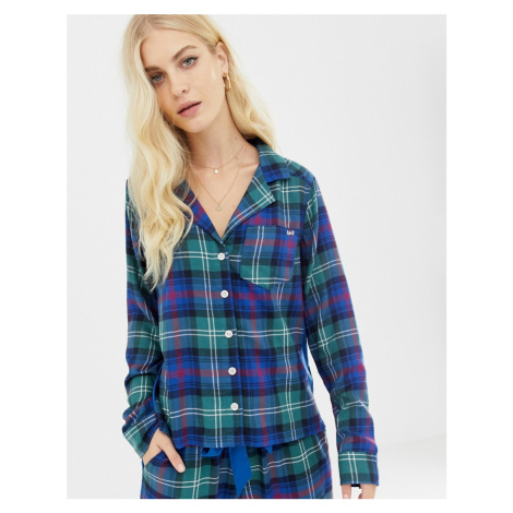 Abercrombie & Fitch tartan pyjama shirt with side panel