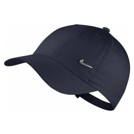 Nike HERITAGE86 CAP METAL SWOOSH ciemnoniebieski  - Czapka z daszkiem dziecięca