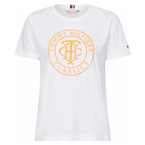 TOMMY HILFIGER Koszulka jasnopomarańczowy / biały