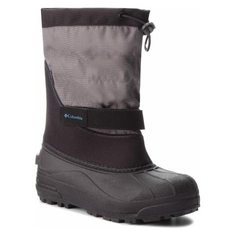 Śniegowce COLUMBIA - Youth Powderbug Plus II BY1326 Black/Hyper Blue 010