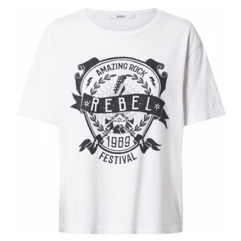 ONLY Koszulka 'ZIA' biały / czarny
