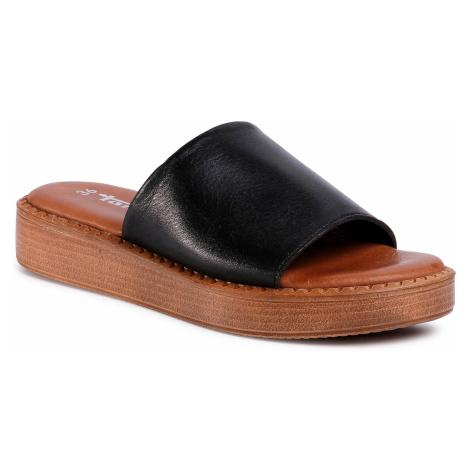 Klapki TAMARIS - 1-27236-34 Black Leather 003