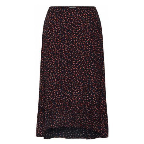 MOSS COPENHAGEN Spódnica 'Milana Morocco' czarny / czerwony