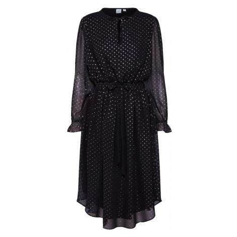 GAP Sukienka 'ZEN MIDI DRS - FLPRT' beżowy / czarny