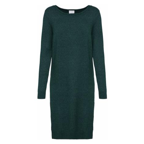 VILA Sukienka z dzianiny zielony
