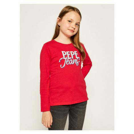 Pepe Jeans Bluzka Serena PG502541 Czerwony Regular Fit