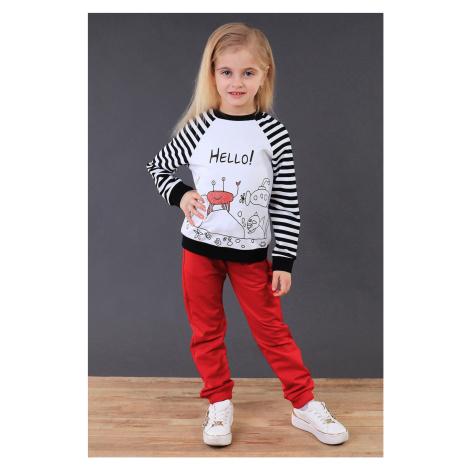 Dziewczęce spodnie dresowe czerwone