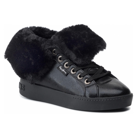 Sneakersy PEPE JEANS - Brixton Flap PLS30889 Black 999