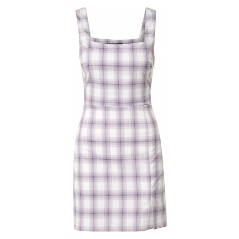 Fashion Union Sukienka 'PINS' biały / fioletowy