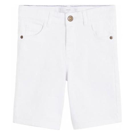 MANGO KIDS Spodnie 'PERU' biały denim