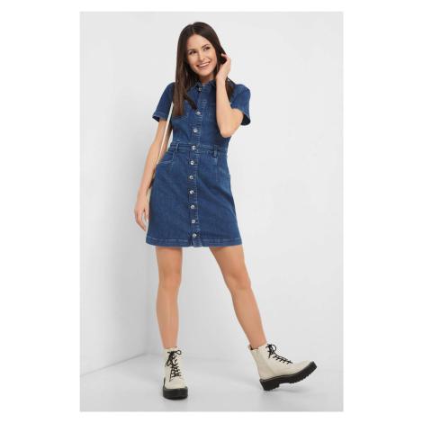 Jeansowa sukienka mini Orsay