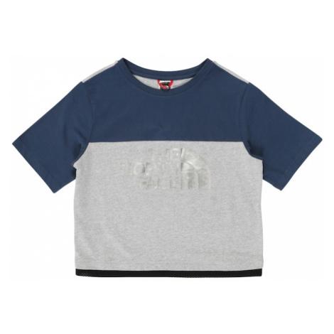 THE NORTH FACE Koszulka nakrapiany szary / niebieski