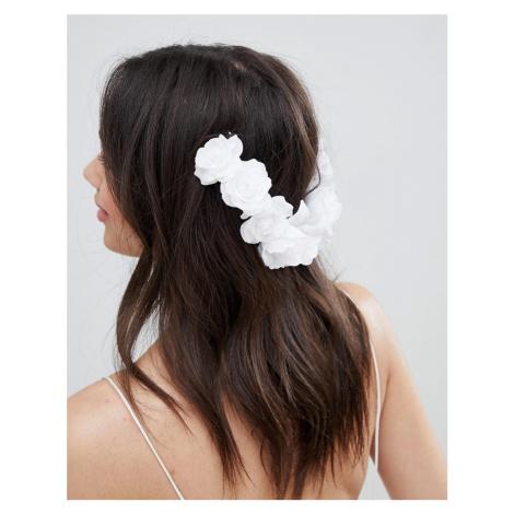 ASOS DESIGN Bridal Floral Back Hair Clip