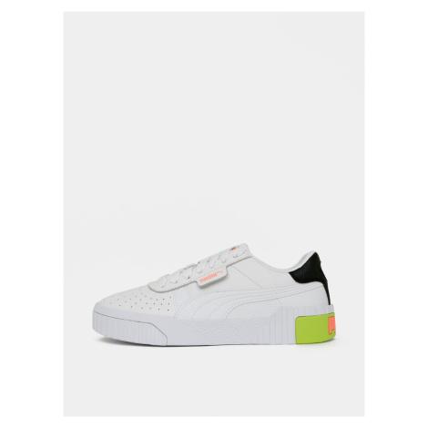 Białe skórzane sneakersy damskie Puma