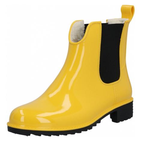 RIEKER Gumiaki żółty / czarny