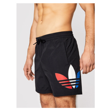 Adidas Szorty kąpielowe Tricol Swims GN3568 Czarny Regular Fit