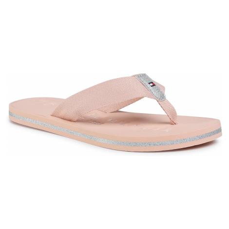 Japonki TOMMY HILFIGER - Th Glitter Flat Beach Sandal FW0FW04987 TM0