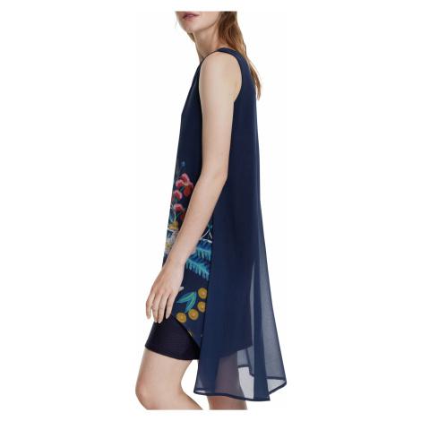 Desigual niebieska sukienka Vest Carnegie