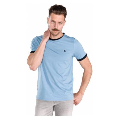 Fred Perry Ringer Koszulka Niebieski