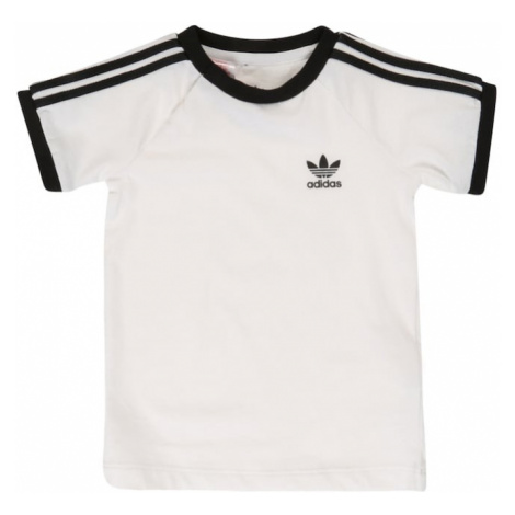 ADIDAS ORIGINALS Koszulka '3 Stripes' czarny / biały