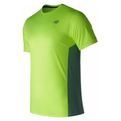 New Balance MT53061HIL jasnozielony S - Koszulka sportowa męska