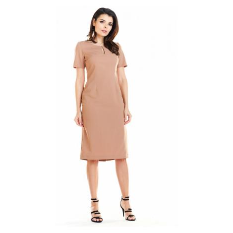 Awama Woman's Dress A252 Camel