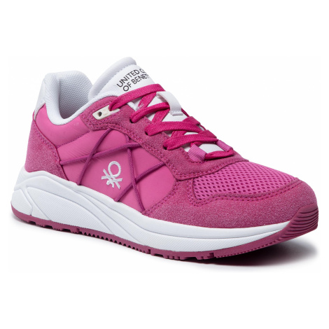 Sneakersy UNITED COLORS OF BENETTON - Ascent BTW117306 Fucsia/White