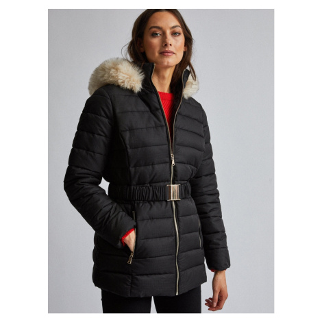 Dorothy Perkins Black Quilted Winter Jacket