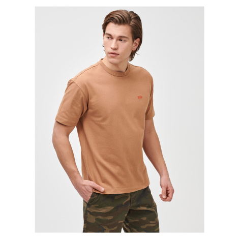 GAP beżowa koszulka męska micro arch easy t-shirt