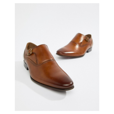 ALDO Qerrasen monk shoes in tan leather