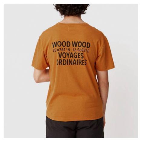 Koszulka męska Wood Wood Voyages T-shirt 12035716-2334 ORANGE