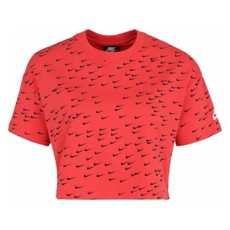 Nike Sportswear Koszulka 'ESSNTL' czerwony / czarny