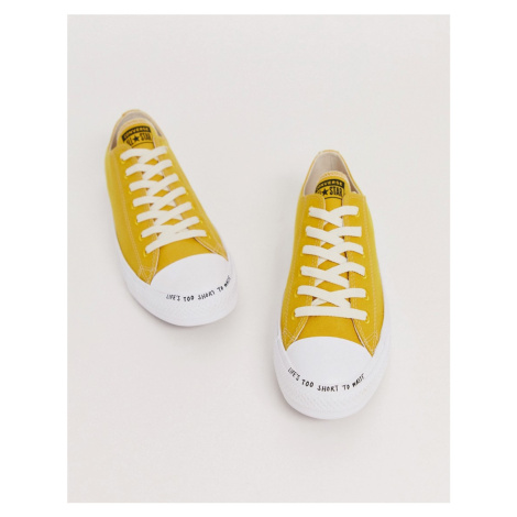 Converse Renew Chuck Taylor All Star trainers in yellow
