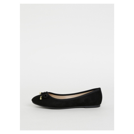 Black ballerinas in suede finish by Dorothy Perkins