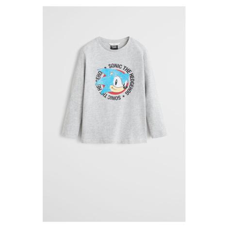 Mango Kids - Longsleeve dziecięcy Sonic 110-152 cm