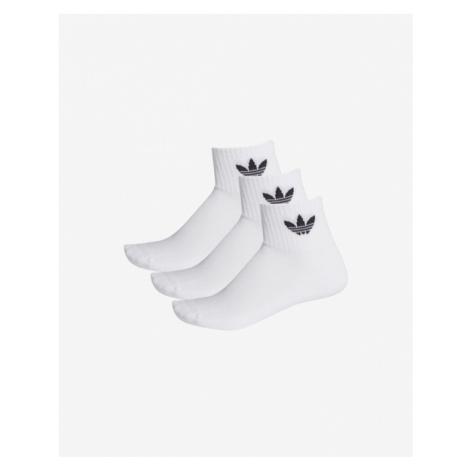 adidas Originals Mid-Cut Crew 3-pack Skarpetki Biały