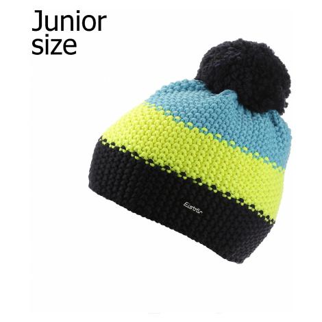 czapka dziecięca Eisbär Star Neon Pompon MÜ - 892/Nacht/Light Yellow/Mugo Azur