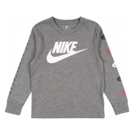 Nike Sportswear Koszulka nakrapiany szary / biały / czarny / czerwony