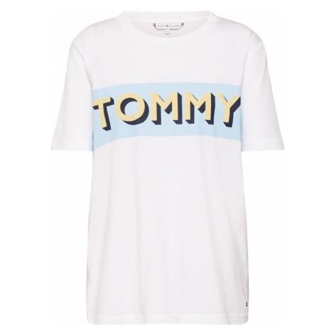 TOMMY HILFIGER Koszulka 'Erin' jasnoniebieski / jasnożółty / biały